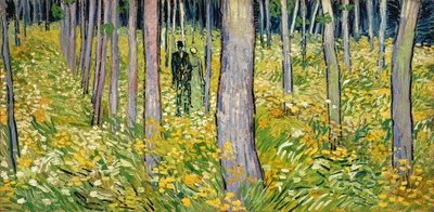 Undergrowth with Two Figures, 1890 Poster Art Print by Vincent van Gogh
