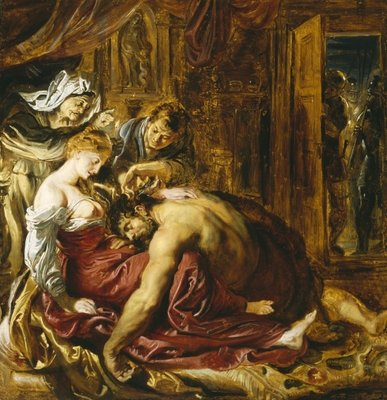Fine Art Print of Samson and Delilah, c.1609 by Peter Paul Rubens