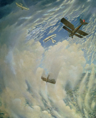 Fine Art Print of War in the Air, 1918 by Christopher Richard Wynne Nevinson