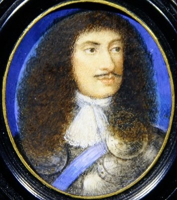 Fine Art Print of Portrait of Charles II by English School