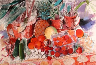 Fine Art Print of Summer Fruits by Claire Spencer