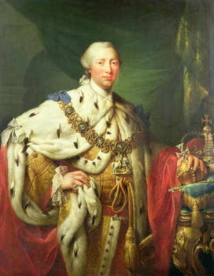 Fine Art Print of Portrait of George III by Allan Ramsay