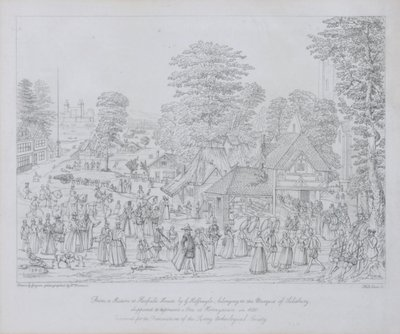Fine Art Print of Fete at Horseydown in c.1590 by Joris Hoefnagel
