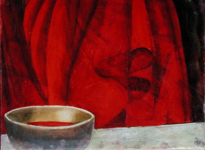 Lustrous Red, 2003 (oil on canvas) by Charlotte Moore - print