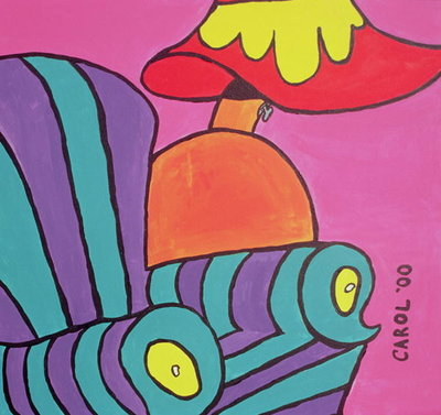 Cartoon Chair with Lamp, 2000 Poster Art Print by Carol Tatham Smith