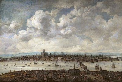 View of London from Southwark, 1640-60 by Anglo-Dutch School - print