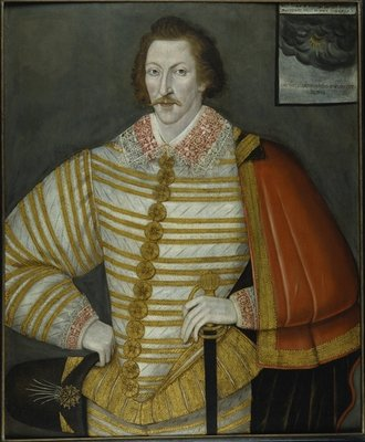 Portrait of Thomas Cavendish, the Circumnavigator, 1588-91 by John the Younger Bettes - print