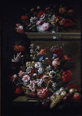 Still life of flowers by J-B Monnoyer - print