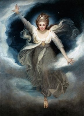Georgiana as Cynthia from Spenser's 'Faerie Queene', 1781-82 by Maria Hadfield Cosway - print