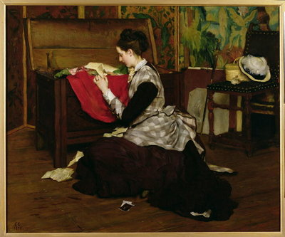 Old Letters and Dead Leaves Poster Art Print by Claude Andrew Calthrop