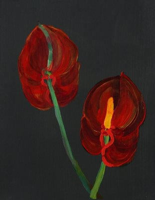 Anthurium, Heart Flower, 2008 Poster Art Print by Deborah Barton