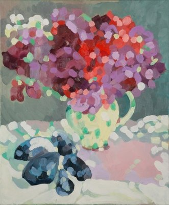 Fine Art Print of Sweet Peas and Seashells, 2006 by Deborah Barton
