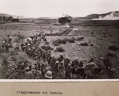 Italian soliders attempt to circumnavigate the Tembien Poster Art Print by Italian Photographer