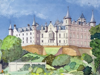 Fine Art Print of Dunrobin Castle, 1996 by David Herbert