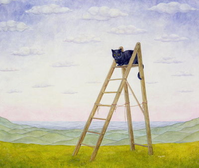 The Ladder Cat by Ditz - print