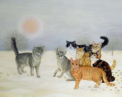Winter-Cats by Ditz - print