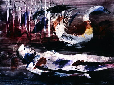 Fine Art Print of Leda and the Swan, c.1960 by Sir Sidney Nolan