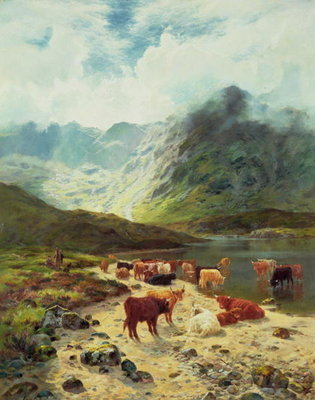 Ross-shire Loch, 1888 Poster Art Print by Louis Bosworth Hurt