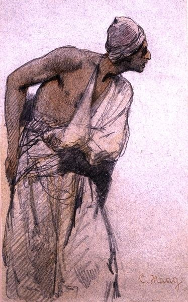 Fine Art Print of An Arab Peasant by Carl Haag