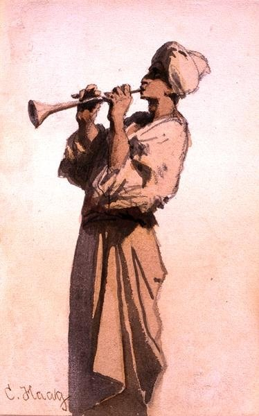 Fine Art Print of The Snake Charmer by Carl Haag