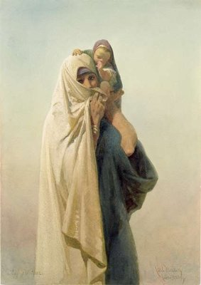 Fine Art Print of A Coptic Mother, 1859 by Carl Haag