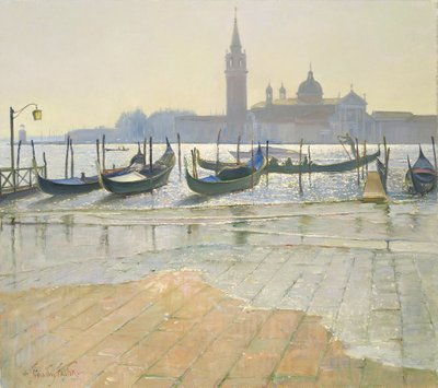 Venice at Dawn Poster Art Print by Timothy Easton