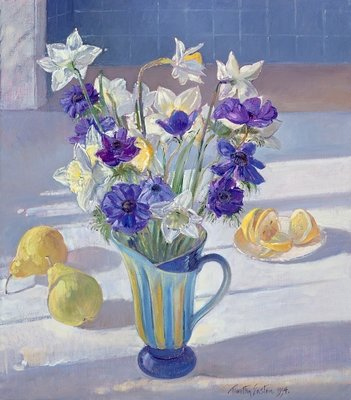 Fine Art Print of Spring Flowers and Lemons, 1994 by Timothy Easton