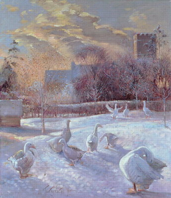 First Light, 1994 (oil on canvas) by Timothy Easton - print