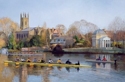 Winter Training at Hampton (oil on canvas) by Timothy Easton - print