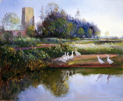 Geese at Sundown, 1991 by Timothy Easton - print