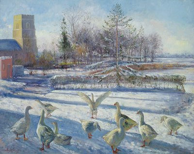Snow Geese, Winter Morning by Timothy Easton - print