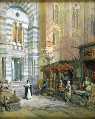 Fine Art Print of The Maristan or Mosque-Hospital of Kalaun, Cairo, 1882 by William 'Crimea' Simpson