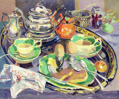 The Breakfast Tray Poster Art Print by Elizabeth Jane Lloyd