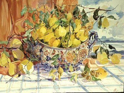 Tureen of Quinces Poster Art Print by Elizabeth Jane Lloyd