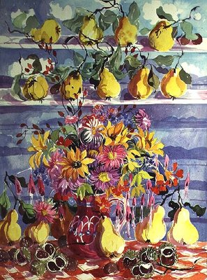 Bounty of Quinces Poster Art Print by Elizabeth Jane Lloyd