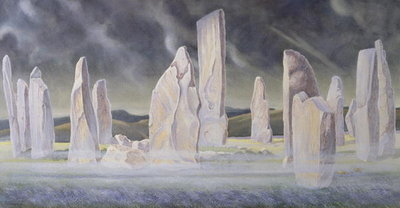 Fine Art Print of The Callanish Legend, Isle of Lewis, 1991 by Evangeline Dickson