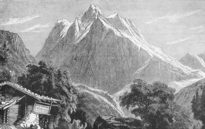 Fine Art Print of The Wetterhorn by German School