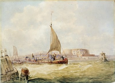 The Old Harbour, Hull Poster Art Print by George the Elder Chambers