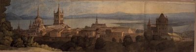 Fine Art Print of No.1483 View of Lausanne, 1781 by Francis Towne