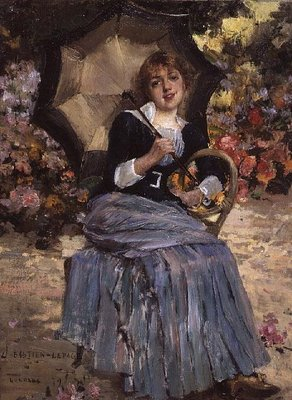 Girl with a sunshade, 1879 Poster Art Print by Jules Bastien-Lepage