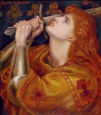 Fine Art Print of Joan of Arc, 1882 by Dante Charles Gabriel Rossetti