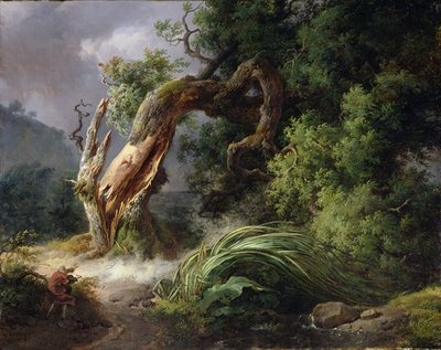 Fine Art Print of The Oak and the Reed, 1816 by Achille Etna Michallon