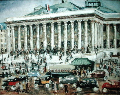 La Bourse (oil on canvas) by Lucien Genin - print
