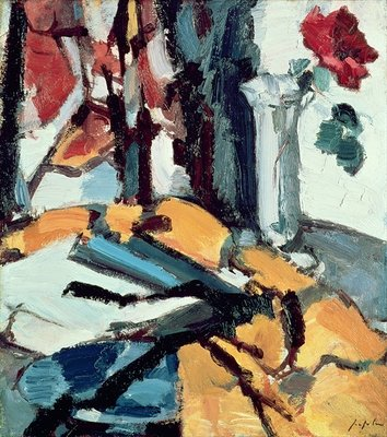 Red Rose Poster Art Print by Samuel John Peploe