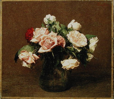 Fine Art Print of Roses 'La France', 1895 by Ignace Henri Jean Fantin-Latour