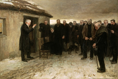 Fine Art Print of A Highland Funeral, 1882 by Sir James Guthrie