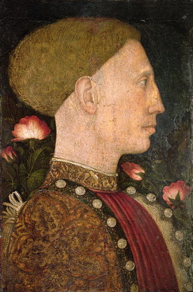 Fine Art Print of Portrait of Lionello d'Este by Antonio Pisanello