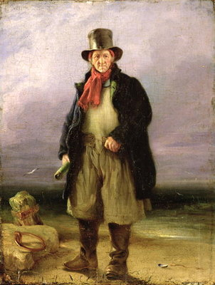 The Old Pilot, 1837 Poster Art Print by Henry Perlee Parker