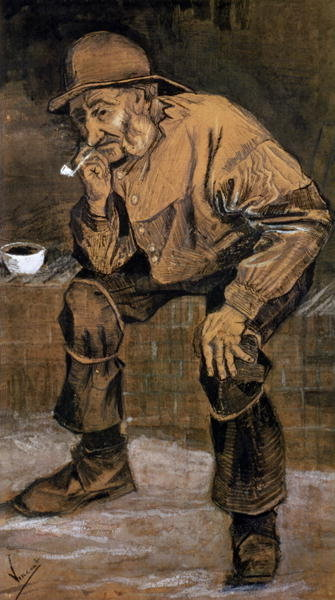 Old man with a pipe, 1883 Poster Art Print by Vincent van Gogh