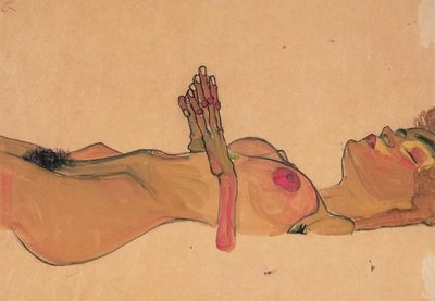 Dead Girl by Egon Schiele - print